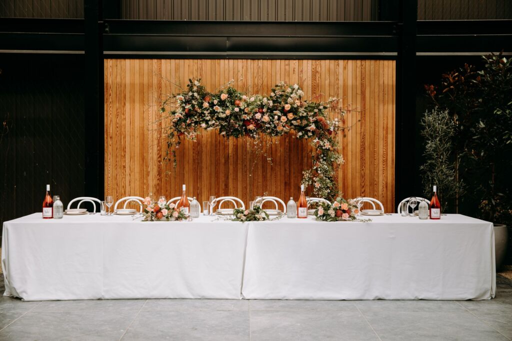 Styled Shoot Glasshouse Table Set Up