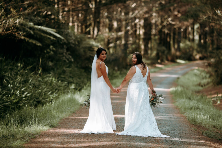 Riverhead Forest Bride and Bride Walking